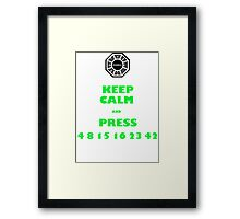 Keep calm lost Framed Print