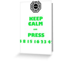 Keep calm lost Greeting Card