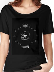 STICK AND POKE TATTOO CRYSTAL SKULL Women's Relaxed Fit T-Shirt