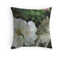 Of Geraniums and Angels Throw Pillow