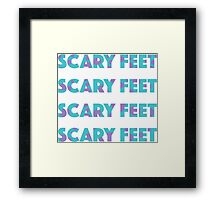 Sulley Scary Feet Monsters Inc Text Framed Print