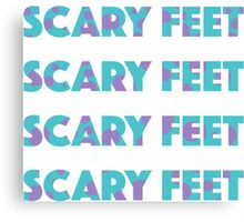 Sulley Scary Feet Monsters Inc Text Canvas Print