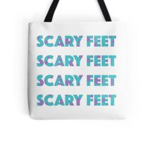 Sulley Scary Feet Monsters Inc Text Tote Bag