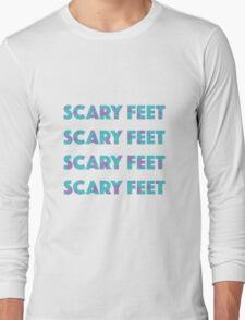 Sulley Scary Feet Monsters Inc Text Long Sleeve T-Shirt