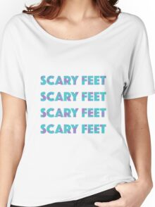 Sulley Scary Feet Monsters Inc Text Women's Relaxed Fit T-Shirt