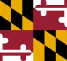 Maryland USA State Flag Baltimore Annapolis Bedspread T-Shirt Sticker Sticker