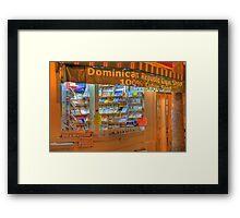 Dominican Cigar Shop Framed Print