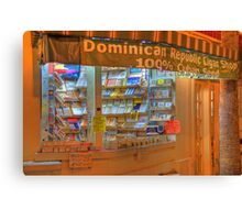 Dominican Cigar Shop Canvas Print