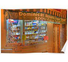Dominican Cigar Shop Poster