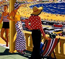 Australia Vintage Travel Poster Restored by Carsten Reisinger