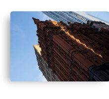 Manhattan - an Angled View of the Potter Building at Sunrise Canvas Print