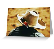 Feather Luck Cowboy Greeting Card