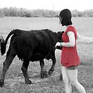 Self-Portrait with Cow by taylorleigh