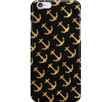 Vintage Retro Sailor Gold Glitter Nautical Anchors iPhone Case/Skin