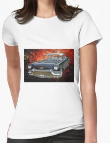 57 Cadillac UFO Womens Fitted T-Shirt