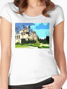 SUMMER AT BELFAST CASTLE Women's Fitted Scoop T-Shirt