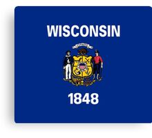 Wisconsin USA State Flag Milwaukee Bedspread T-Shirt Sticker Canvas Print