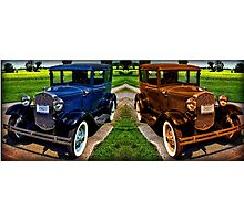 STICHED TOGETHER 1931 FORD MODEL A CAR Photographic Print