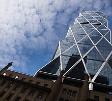 Lines, Triangles and Cloud Puffs - Hearst Tower in New York City by Georgia Mizuleva