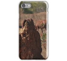 Termites Mounds and Brumbies iPhone Case/Skin