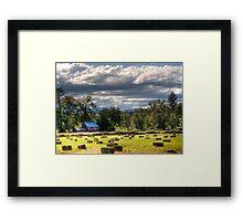hay farm hdr Framed Print