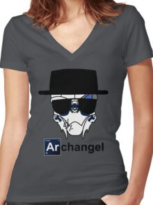 I am the Archangel (with black text) Women's Fitted V-Neck T-Shirt