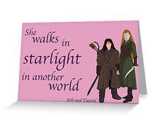 The Hobbit She walks in starlight Greeting Card