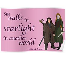 The Hobbit She walks in starlight Poster