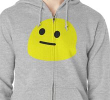 Neutral Face Zipped Hoodie