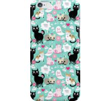 pattern lovers cats  iPhone Case/Skin