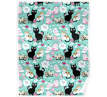 pattern lovers cats  Poster