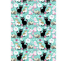 pattern lovers cats  Photographic Print