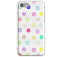 Girly Bright Pastel Rainbow Watercolor Polka Dots iPhone Case/Skin