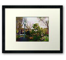 Spring on the Plaza Framed Print