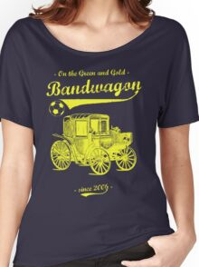 On the Green and Gold Bandwagon - Yellow Women's Relaxed Fit T-Shirt
