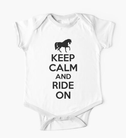 Keep calm and ride on One Piece - Short Sleeve