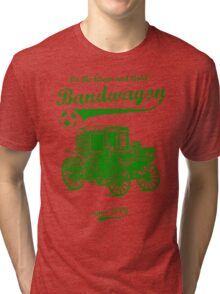 On the Green and Gold Bandwagon - Green Tri-blend T-Shirt