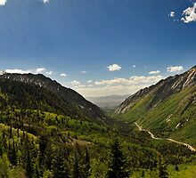 Little Cottonwood Canyon, Panoramic Shot by Ryan Houston