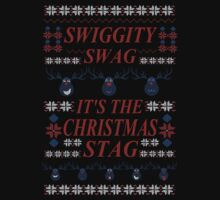 SWIGGITY SWAG, IT'S THE NIGHTMARE STAG! -  ugly christmas sweater by FandomizedRose