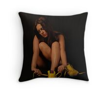 lace up Throw Pillow