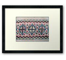 Detail of Scandinavian Sweater Design Framed Print