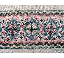 Detail of Scandinavian Sweater Design Photographic Print
