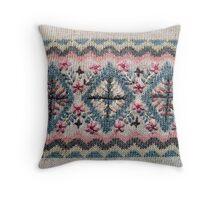 Detail of Scandinavian Sweater Design Throw Pillow