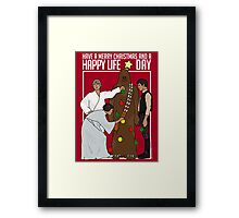 Star Wars Christmas Sweater - Merry Christmas and a Happy Life Day Framed Print