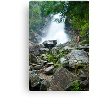 waterfall in Tatra National Park in Slovakia Canvas Print