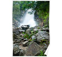 waterfall in Tatra National Park in Slovakia Poster