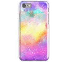 Hand painted pastel watercolor nebula galaxy stars iPhone Case/Skin