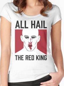 All Hail The Red King! Women's Fitted Scoop T-Shirt