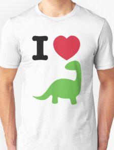 I heart dinosaur (brachiosaurus) Unisex T-Shirt