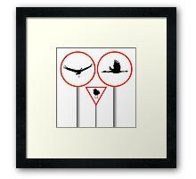 Birds traffic signs Framed Print